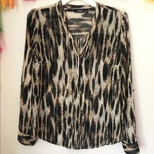 A.N.A. Sheer pattern blouse